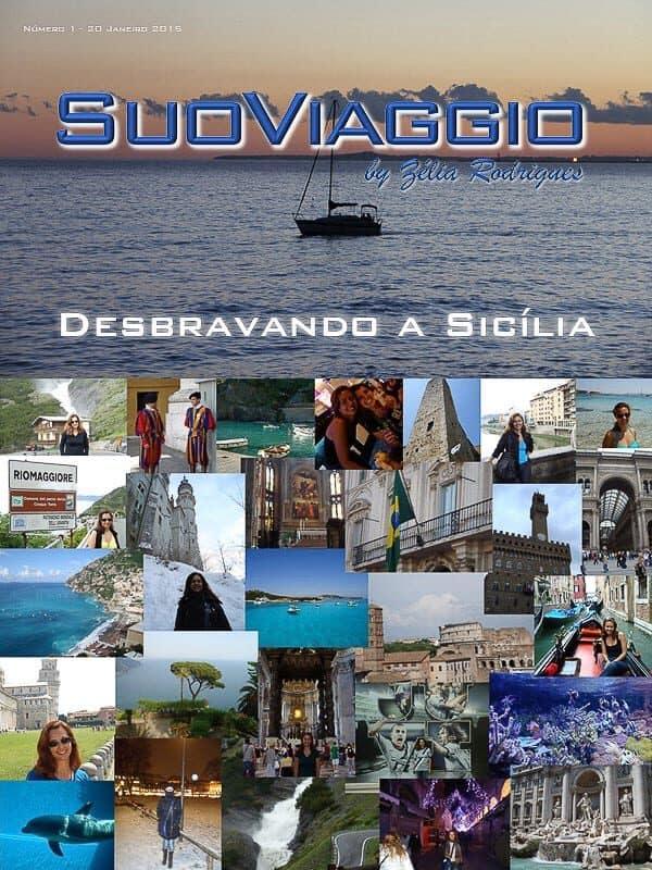 imagem da capa da edição Desbravando a Sicília - SuoViaggio N. 1 - Janeiro 2015 - Ano I