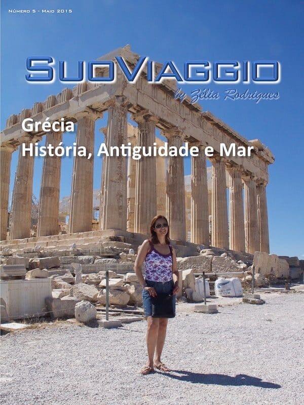 imagem da capa da edição Grécia História Antiguidade e Mar - SuoViaggio N. 5 - Maio 2015 - Ano I