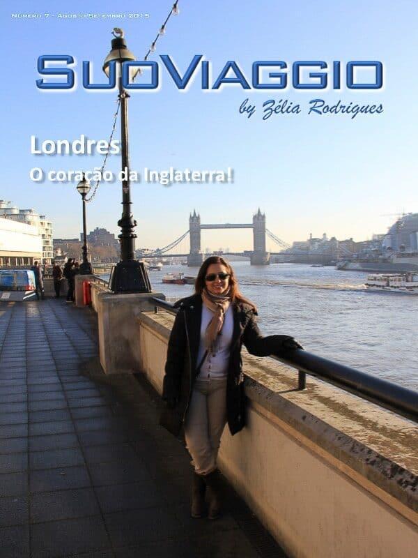 imagem da capa da edição Londres, o coração da Inglaterra - SuoViaggio N. 7 - Agosto e Setembro 2015 - Ano I