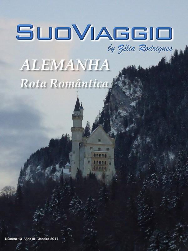 imagem da capa da edição Alemanha Rota Romântica - SuoViaggio N. 13 - Janeiro 2017 - Ano III