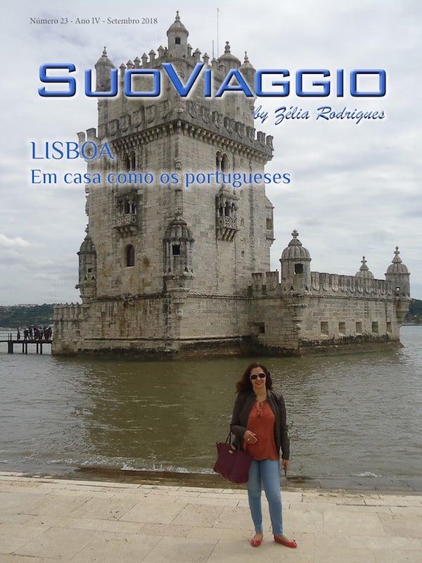 imagem da capa da edição Lisboa Em casa como os portugueses - SuoViaggio N. 23 - Setembro 2018 - Ano IV