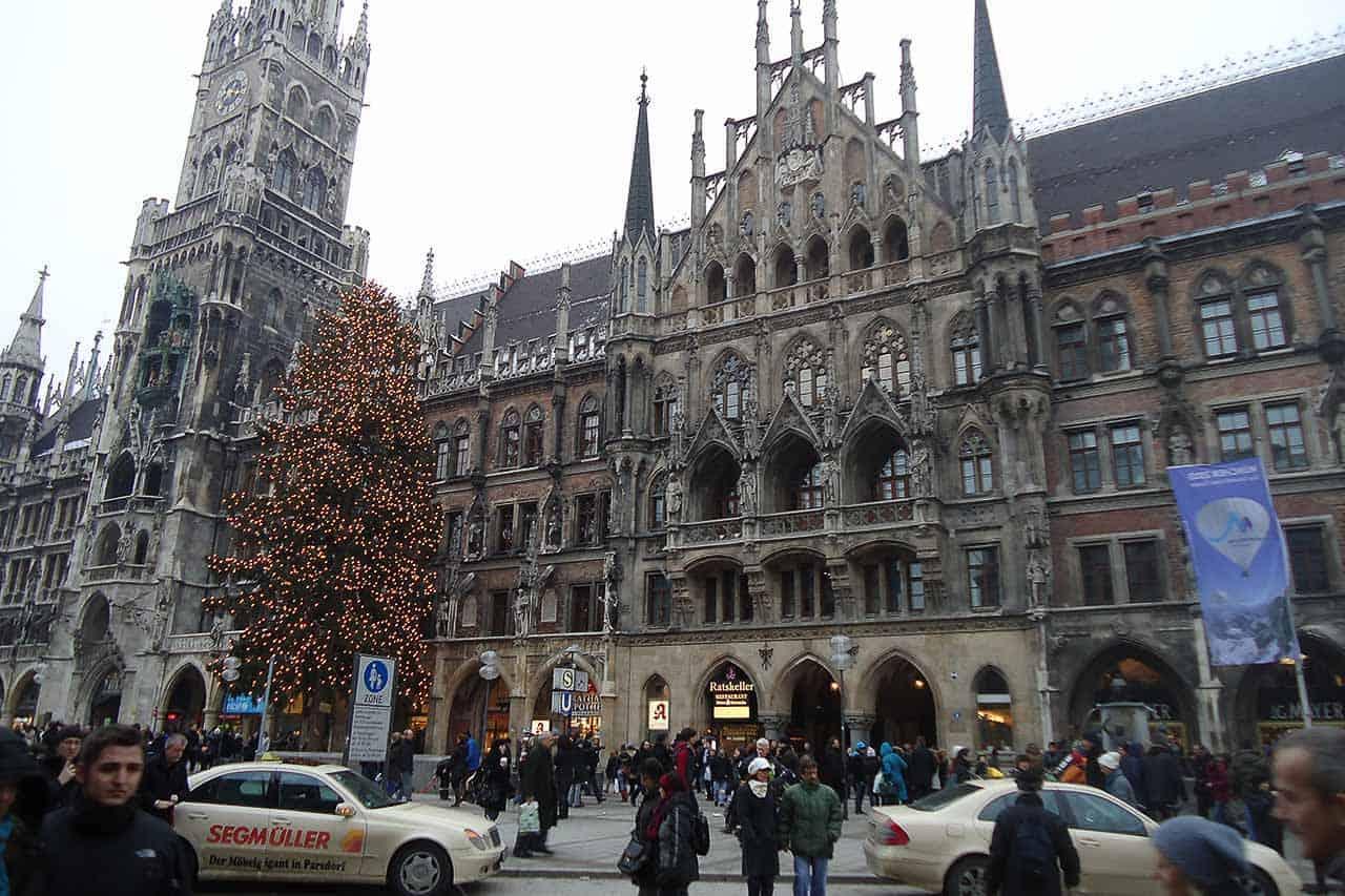 Marienplatz em Munique Alemanha
