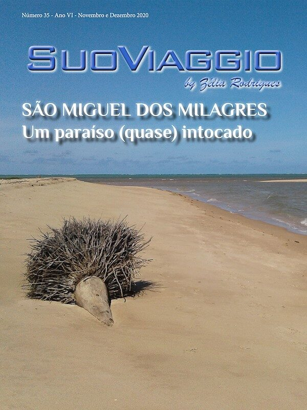 imagem da capa da edição São Miguel dos Milagres - SuoViaggio N. 35 - Novembro e Dezembro 2020 - Ano VI