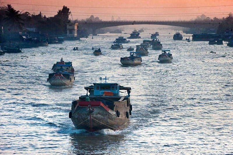 imagem do Delta do Rio Mekong (Vietnã)
