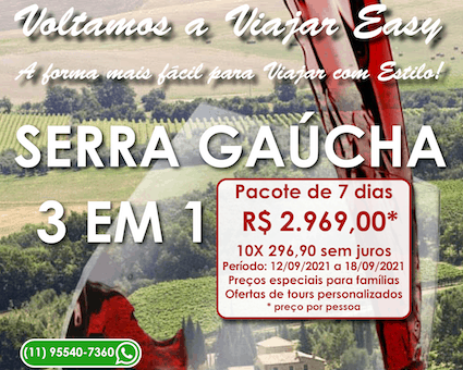 Pacote Serra Gaúcha
