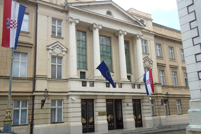 Zagreb Palácio do Parlamento
